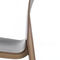 Scandinavian design restaurant chair / upholstered / stackable / with removable cushion FLOW by Jakob Berg Plycollection