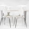 Scandinavian design restaurant chair / upholstered / stackable / with removable cushion