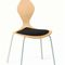 Scandinavian design restaurant chair / upholstered / stackable / with removable cushion PYTHON by Komplot Design Plycollection