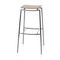 Contemporary bar stool / plywood / birch / chromed metal WESS by Circus Design Plycollection