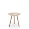 contemporary side table / wooden / round / contract