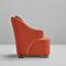 contemporary armchair / fabric
