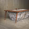 free-standing bathtub / marble / wooden / copper