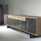 contemporary sideboard / wooden / lacquered MDF / marble