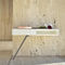 contemporary sideboard table / lacquered MDF / steel / marble