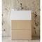 free-standing washbasin / rectangular / natural stone / wood veneer