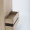 contemporary wardrobe / oak / with swing doors / with drawer