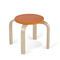 contemporary stool / birch / kindergarten / stackable