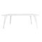 Scandinavian design table / oak / MDF / wood veneer