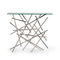 original design sideboard table / tempered glass / stainless steel / satin
