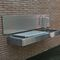 gas barbecue / wall-mounted / stainless steel