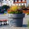 polyethylene planter / round / contemporary / for public spaces