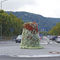Galvanized steel planter / round / contemporary / for public spaces FLOWER TOWER H 2000 Terra Group