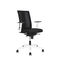 contemporary office armchair / fabric / aluminium / on casters