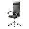 contemporary executive chair / aluminum / leather / fabric