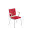 Contemporary visitor chair / fabric / leather / with armrests FEN Nowy Styl Group