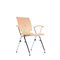 contemporary visitor chair / with armrests / stackable / tablet