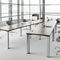 contemporary conference table / wood veneer / oval / U-shaped