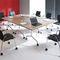 Conference table / original design / rectangular / round FLIB by Jurek Bochacz Nowy Styl Group