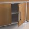 low filing cabinet / steel / MDF / with hinged door