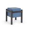 contemporary bedside table / MDF / lacquered metal base / square