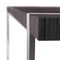 contemporary table / oak / lacquered wood / stainless steel