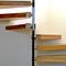 Half-turn staircase / wooden steps / without risers / design OLYMPIA Gasperoni