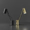 table lamp / contemporary / steel / black