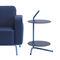 contemporary armchair / chrome / fabric / leather