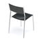 Bauhaus design visitor chair / stackable / upholstered / with armrests