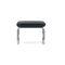 Bauhaus design stool / leather / metal / commercial
