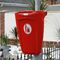 public trash can / wall-mounted / recycled plastic / contemporary