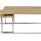 Scandinavian design coffee table / oak / MDF / stainless steel
