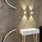 contemporary wall light / cast aluminum / LED / IP40