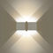 contemporary wall light / painted steel / sheet steel / LED