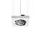 pendant downlight / LED / square / rectangular