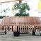 public bench / contemporary / metal / wooden