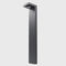 Garden bollard light / contemporary / aluminum / LED LEMUR Brilumen