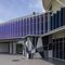 polycarbonate solar shading / for facades / orientable / motorized