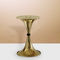contemporary side table / polished brass / brushed brass / glass