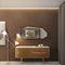 sideboard with long legs / contemporary / brass / marble
