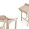Bar stool / contemporary / beech / fabric NHINO by Emilio Nanni Traba'
