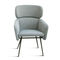 Contemporary armchair / with headrest / beech / metal BALU' XL-MET by Emilio Nanni Traba'