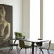 Contemporary chair / velvet / beech / leather BARDOT MET by Emilio Nanni Traba'