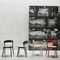 Contemporary chair / stackable / beech / solid wood EDITH by Massimo Broglio Traba'
