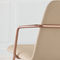 contemporary armchair / metal / leather / fabric