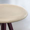 industrial design stool / wooden / fabric / painted metal