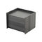 contemporary bedside table / wooden / rectangular / for hotels