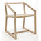 contemporary chair / with armrests / sled base / oak