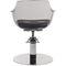 Plexiglas® beauty salon chair / central base / with hydraulic pump / white